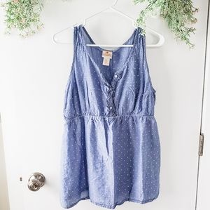 Two Hearts Maternity Polka Dot Buttoned Tank Top
